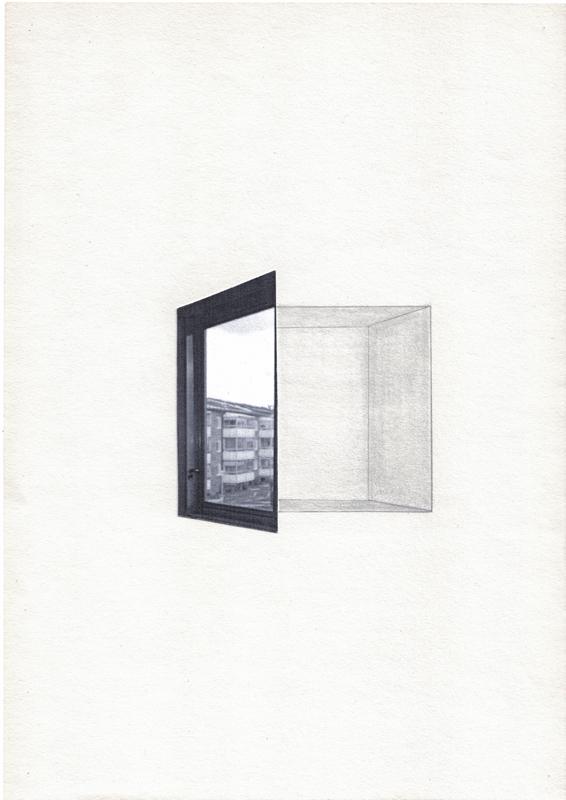 Maxine Victor artwork artist photo drawing window