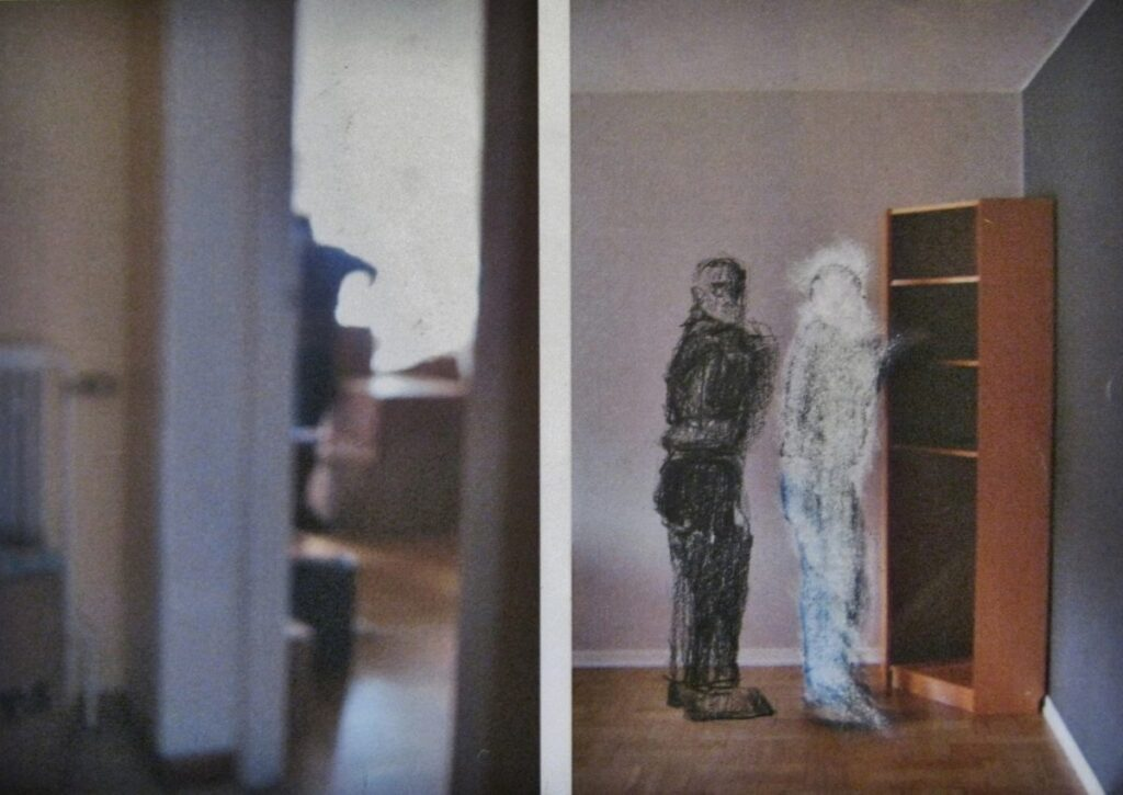 Maxine Victor artwork drawing diptych moving house