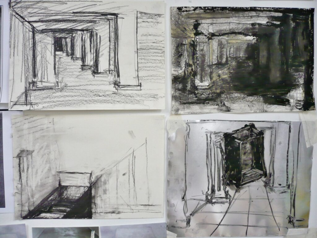 Maxine Victor artwork photo sketches mixed media void deck